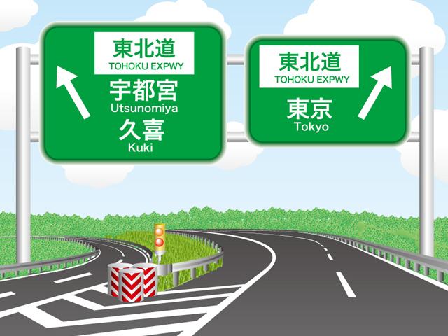 久喜白岡JCTの標識マップ | ドラぷら(NEXCO東日本)