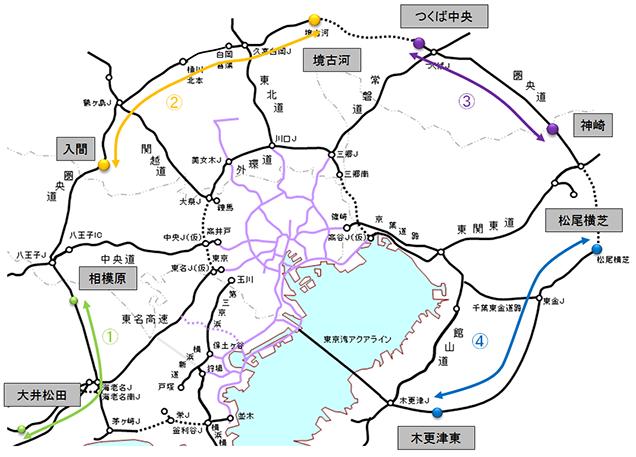 圏央道の料金について(平成28年4月1日時点)