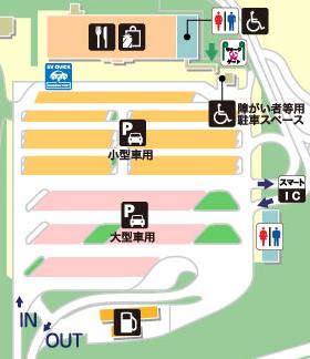 東北自動車道・佐野SA・上りの場内地図画像