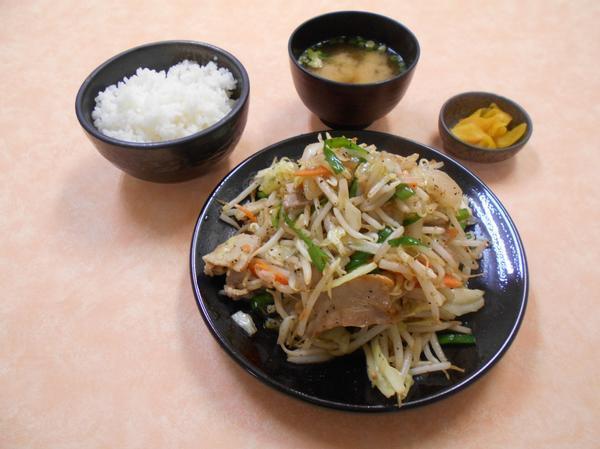 第3位「野菜炒め定食(肉入り)」のイメージ画像