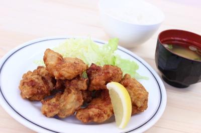 十文字鶏の唐揚げ定食【大】.JPG