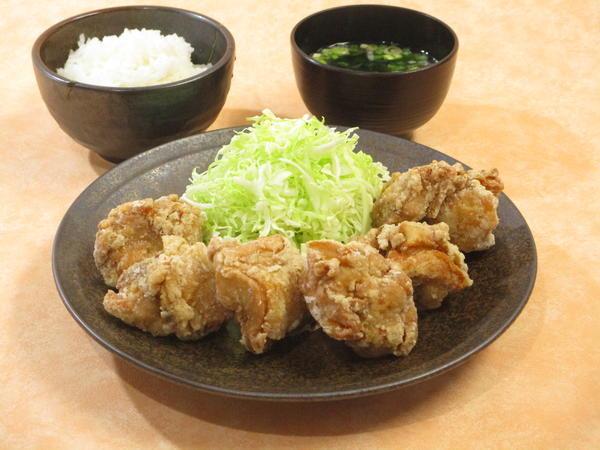 第3位「鶏唐揚げ定食(6個)」のイメージ画像