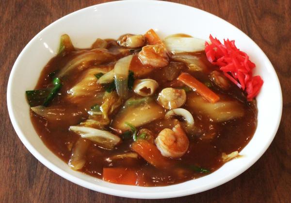 海鮮黒醤油あんかけ麺のイメージ画像
