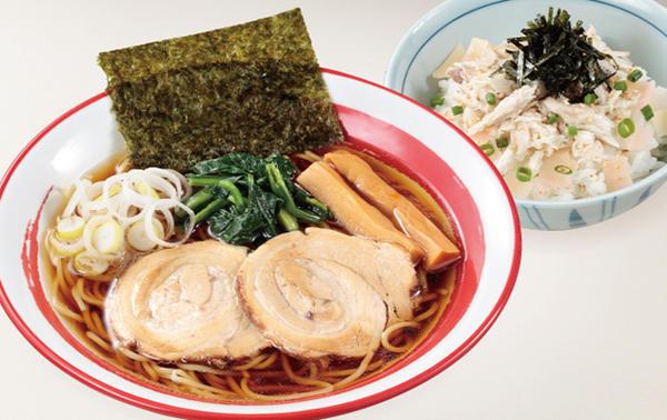 生姜醬油ラーメン(ガリ鯖飯付)のイメージ画像