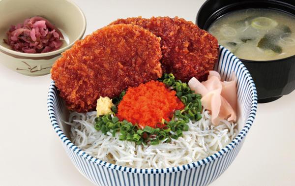 新潟タレカツ(2枚)しらす丼のイメージ画像