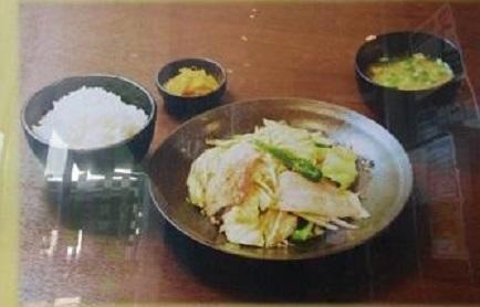 第2位「肉野菜炒め定食」のイメージ画像