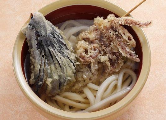 第1位「かけうどん・そばと天ぷら各種」のイメージ画像