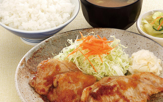 第2位「生姜焼き定食」のイメージ画像