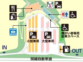 関越自動車道・高坂SA・上りの場内地図画像