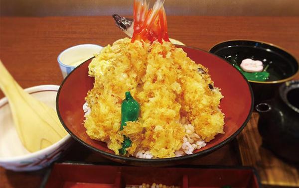 第3位「海老天丼(茶漬け出汁・茶碗蒸し付き)」のイメージ画像