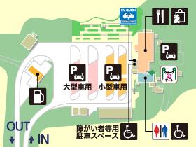 関越自動車道・越後川口SA・下りの場内地図画像