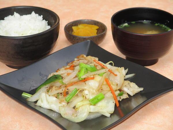 第3位「上州麦豚塩野菜炒め定食」のイメージ画像