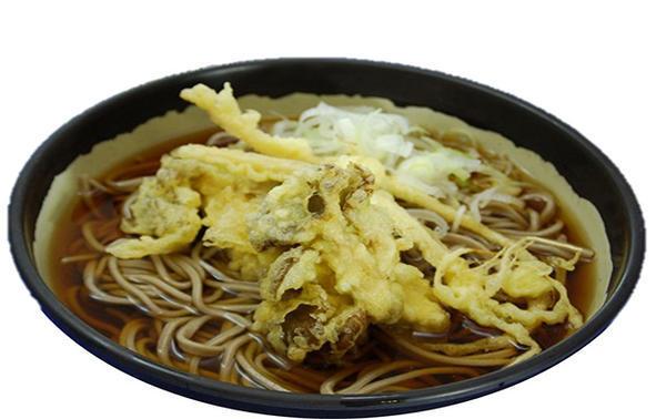 舞茸と野沢菜の天ぷらそばのイメージ画像