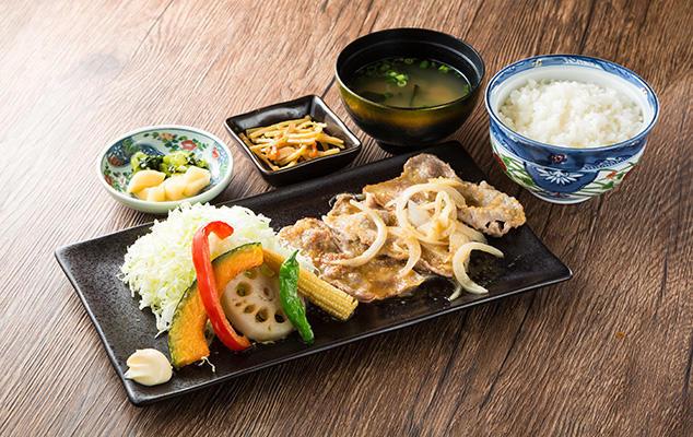 信州ポークの生姜焼き膳のイメージ画像
