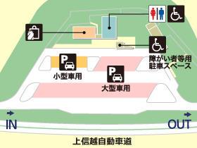 上信越自動車道・千曲川さかきPA・下りの場内地図画像