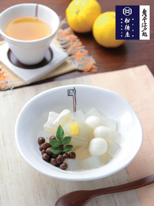柚子白玉あんみつ/572円