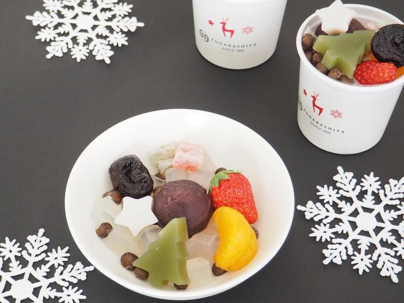 クリスマスフルーツあんみつ/583円